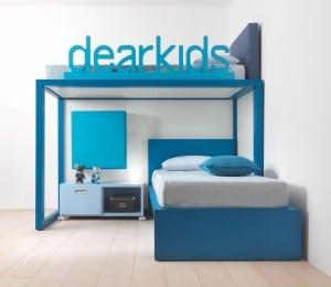 modernes Hochbett für Jungen