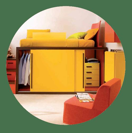 hochwertiges design hochbett mit schrank mobimio. Black Bedroom Furniture Sets. Home Design Ideas