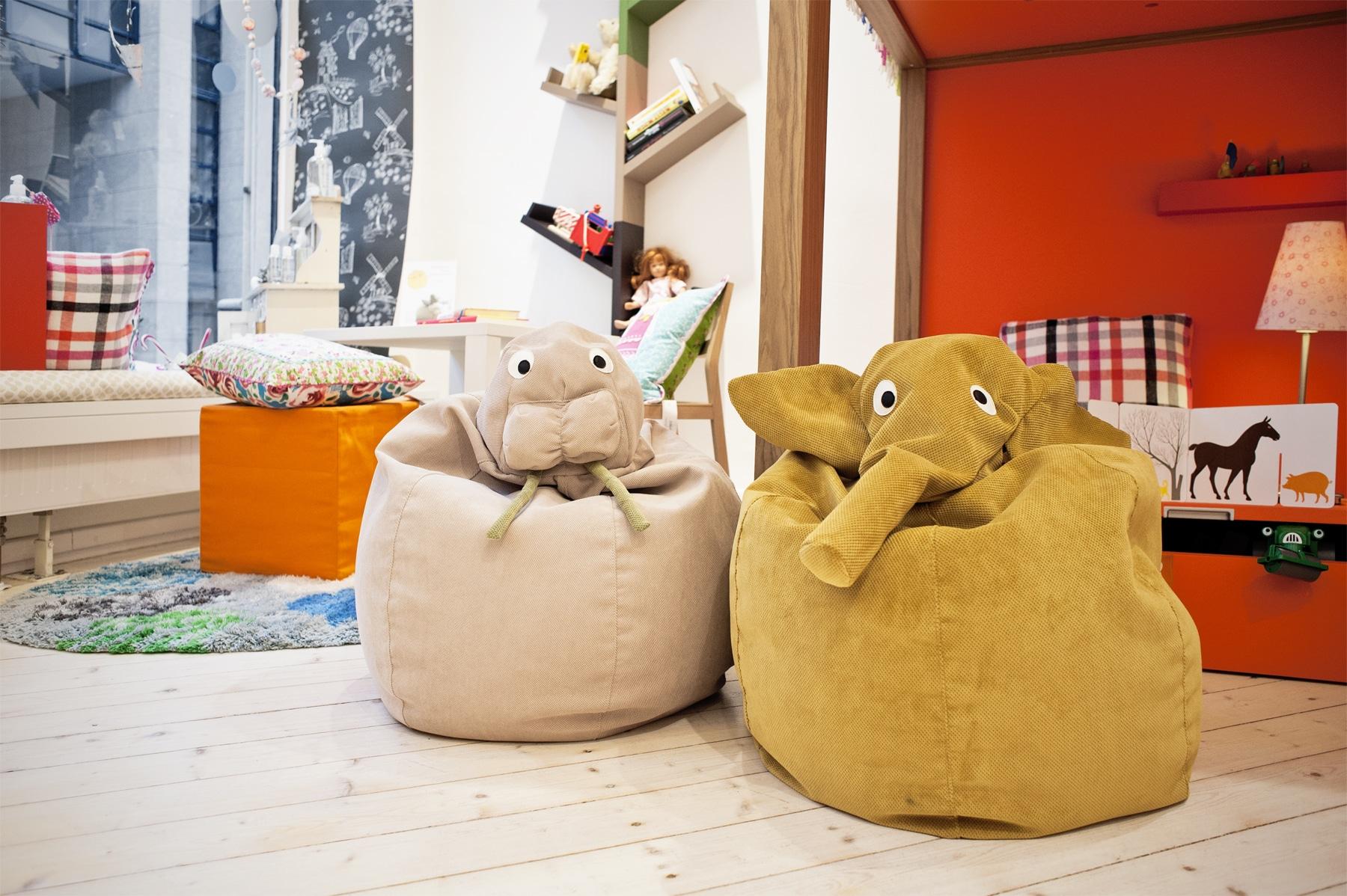 Design Sitzsäcke für Kinder aussergewöhnlich