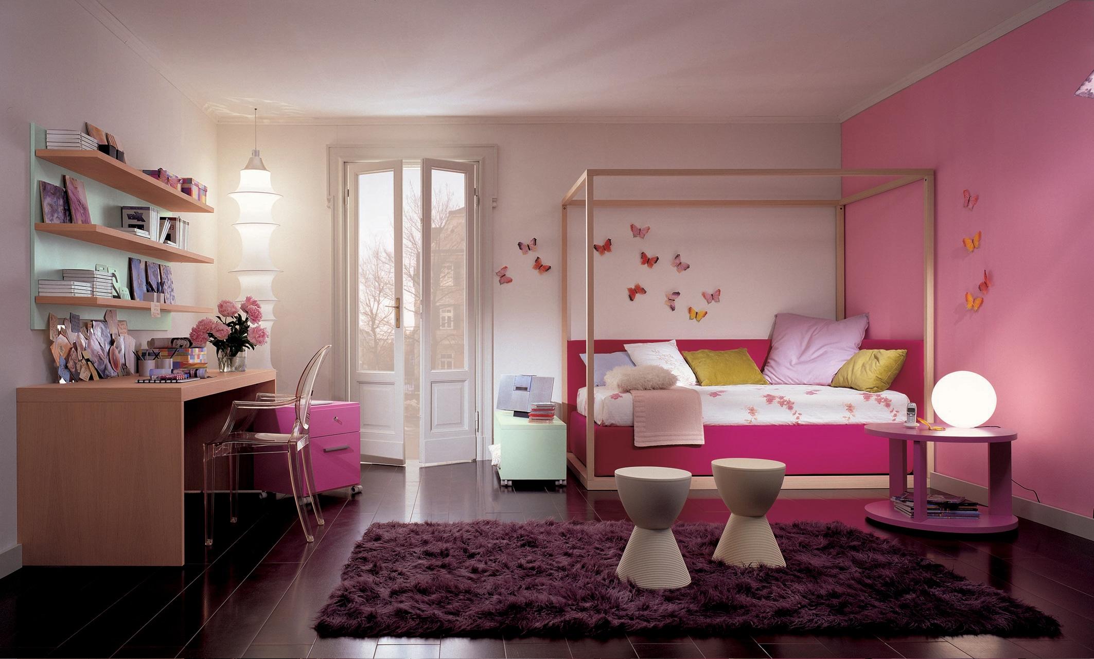 Himmelbett für Mädchen Jugendzimmer modern und romantisch