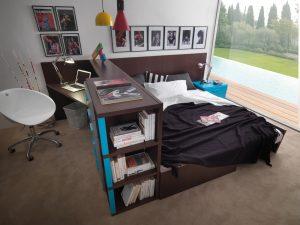 Jugendbett jugendzimmer mit stauraum mobimio for Kinderbetten mit stauraum