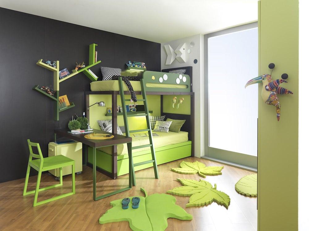 Hochbett Für Kinder Tolle Farben Für Jungen