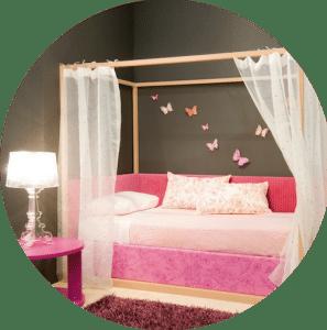 Himmelbett romantisch für Mädchen
