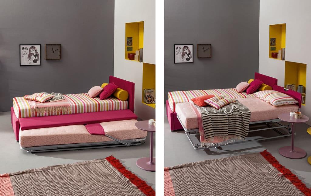 Kinderbett mit ausziehbarem Gästebett hochwertig