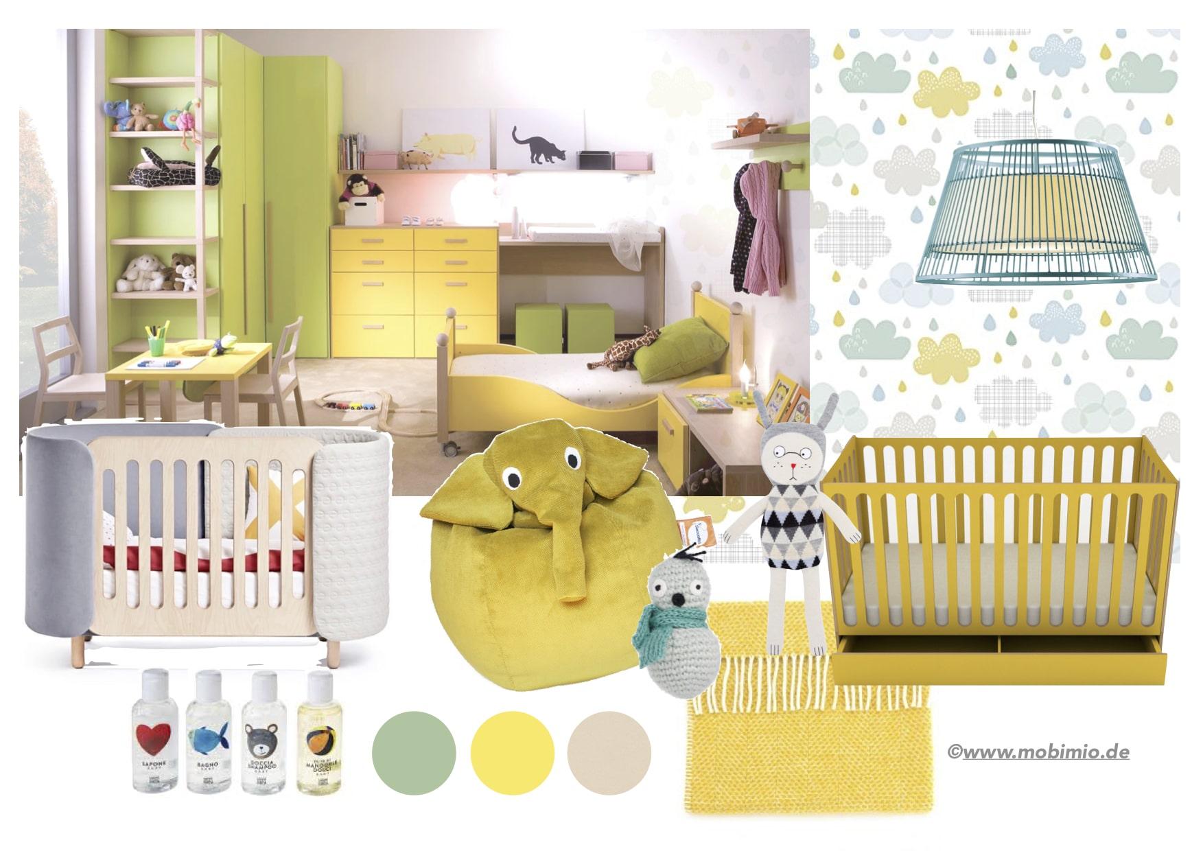 Babyzimmer modern einrichten mit Design Babymöbel