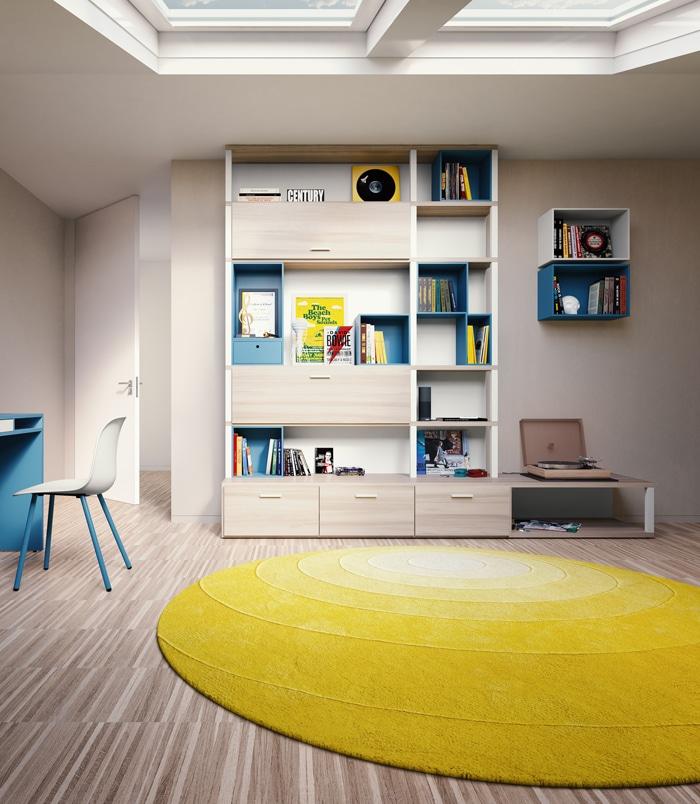 Stauraum Kinderzimmer Regalsystem