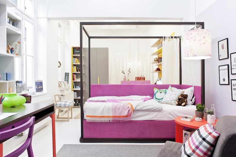mobimio showroom himmelbett Mädchen