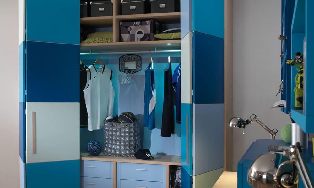 blaues Schrank System von Mobimio