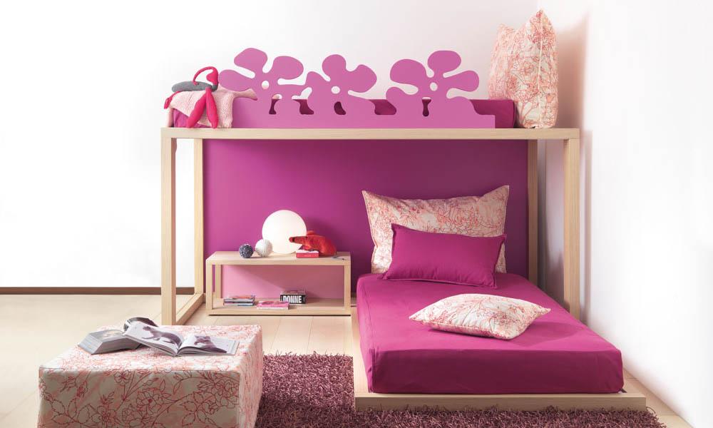 Kinder Hochbett in pink geplant von Mobimio