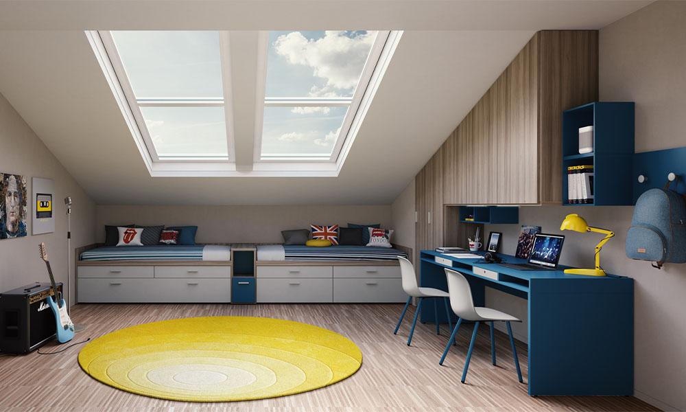 modernes und individuelles Jugendzimmer von Mobimio