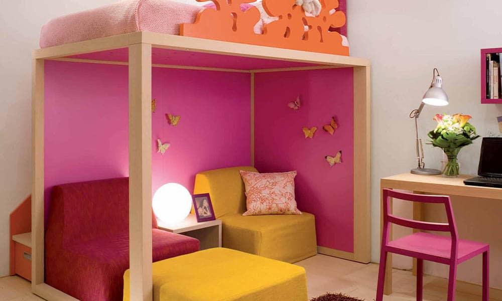 Mädchen Kinderzimmer in pink geplant von Mobimio