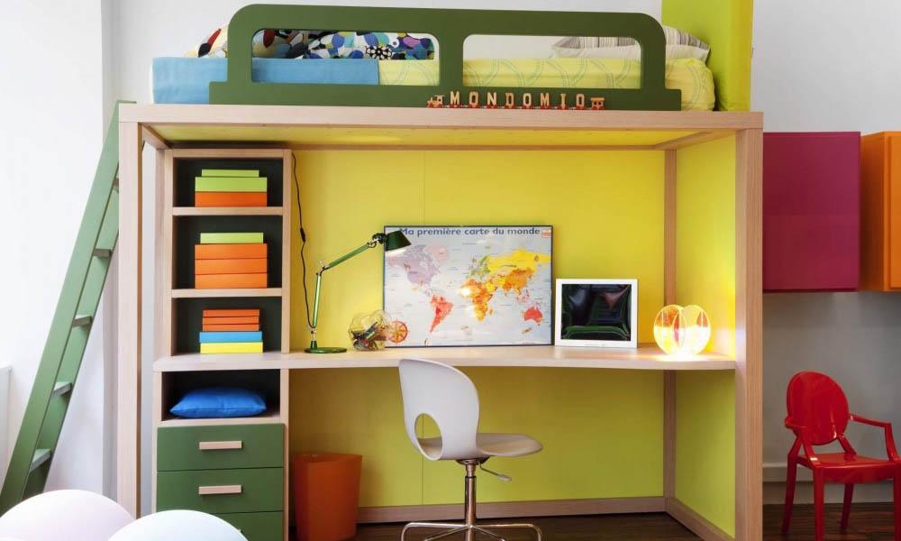 Luxus Hochbett mit Schreibtisch von Dearkids und Mobimio