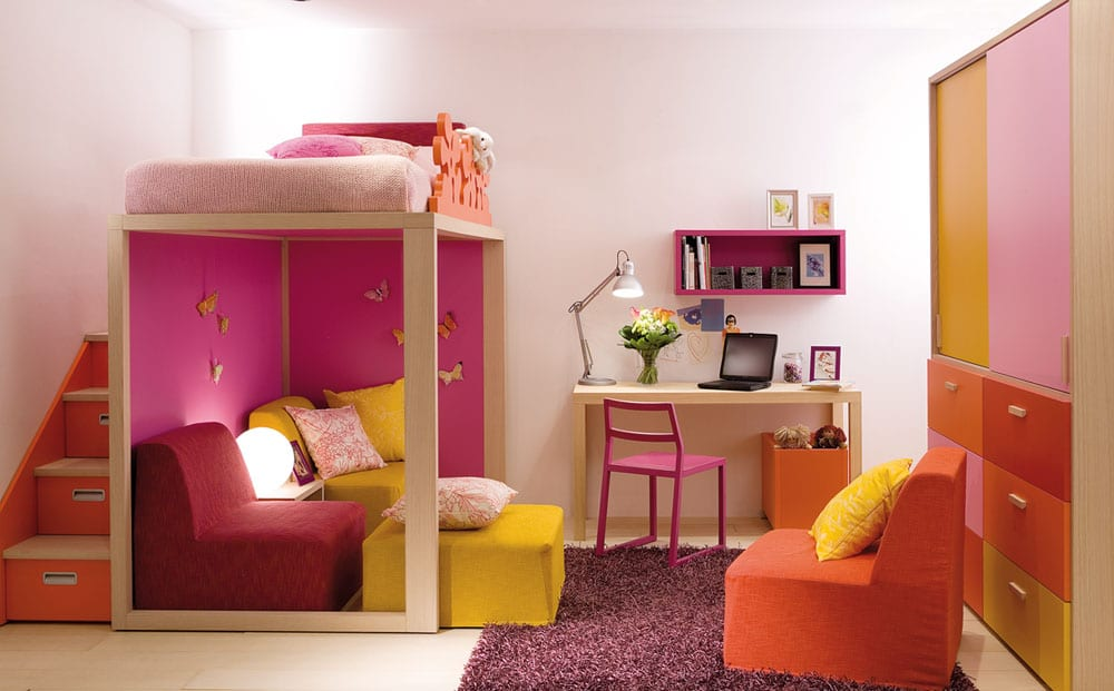 hochwertiges Jugendzimmer modernes Design Mädchen