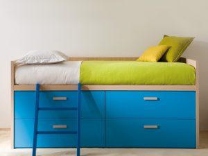 Halbhohes-Bett-mit-Schubladen